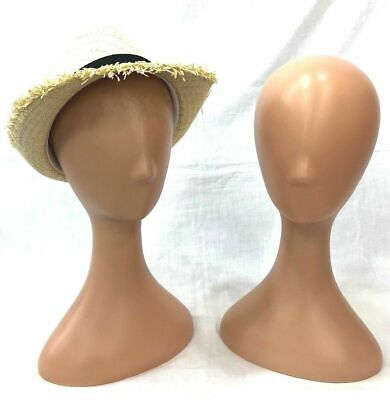 Female Plastic Abstract Mannequin Wig Head Display Hat Cap Wig Holder Skintone