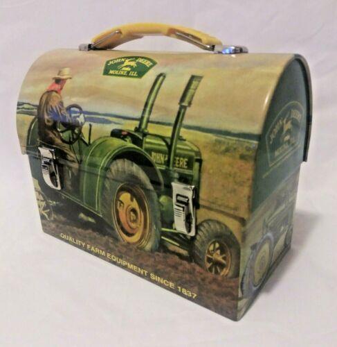 John Deer Tractor Small Metal Lunch Box The Tin Box Company
