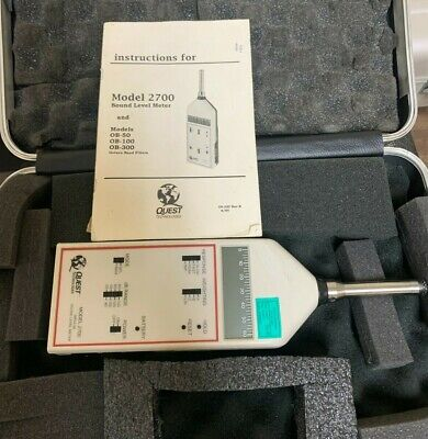 Quest Electronics 2700 Impulse Sound Level Meter W Microphone Case Gc