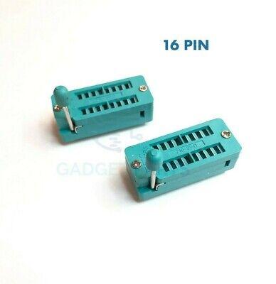 High Quality 2x New 16 Pin 2.54mm Zif Zip Ic Test Dip Board Socket Free Shipping
