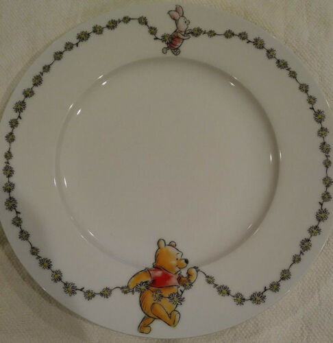 """DISNEY - Winnie the Pooh Daisy Chain Salad Plate 8"""" Collectible NEW"""