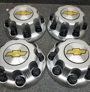 4PCS New Silver 8 Lug Center Caps Chevy Express Van HD TRUCKS 2500 3500 9597170
