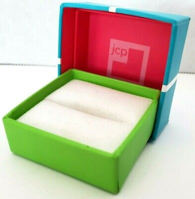 Green Turquoise Ring Jcp Gift Box Jc Penny Aquamarine Bow Jewelry Presentation
