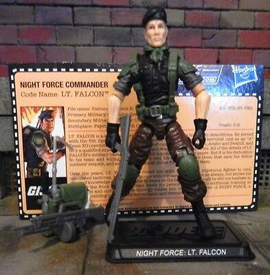 GI JOE ~ 2013 FALCON ~ NIGHT FORCE ~ NOCTURNAL ~ 100% & CARD ~ CLUB FSS 2.0 1988 comprar usado  Enviando para Brazil