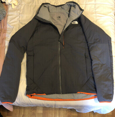 The North Face Ventrix Insulated Jacket Gray And Orange- Men's (L) Large
