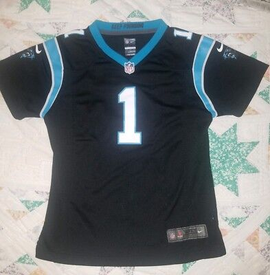 1d11bc59672 Nike Carolina Panthers Cam Newton #1 NFL Football Jersey Youth Large EUC