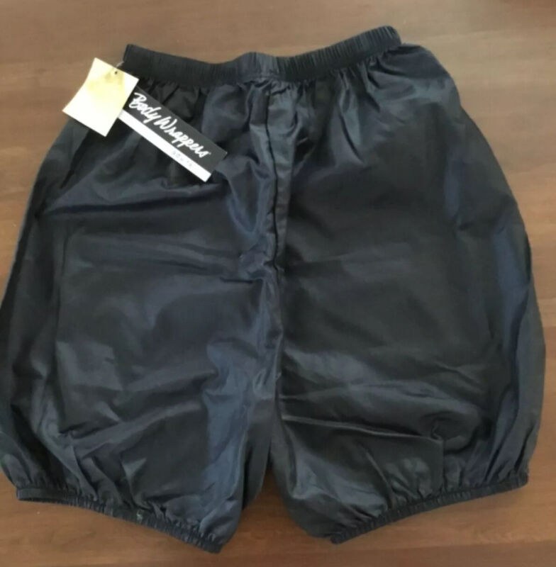 Body Wrappers Dance Trash Bag Shorts Bloomers Black Nylon Size Adult Small NWT