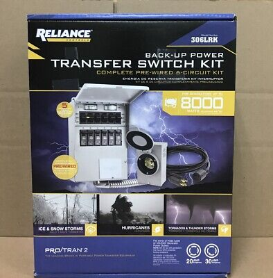 Reliance Controls Corporation 306lrk 30 Amp 6-circuit Protran Transfer Switch