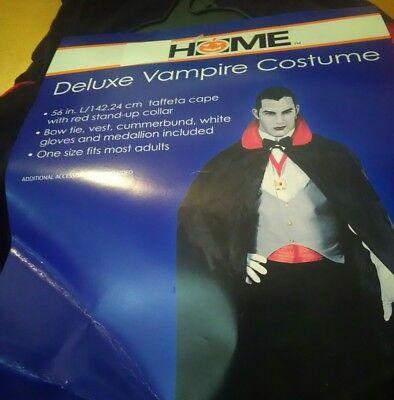 DELUXE 6 PIECE VAMPIRE COSTUME NEW NWT HALLOWEEN DRACULA