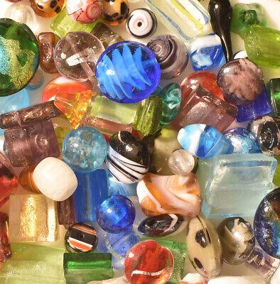 Lampwork Beads, 1 LB  Bulk, Mixed Style & Colors, Handmade Glass](Beads Bulk)