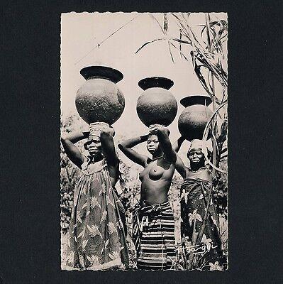 AFRICA PORTER WOMEN TR GERINNEN FRAUEN VINTAGE 50S ETHNIC NUDE PHOTO PC