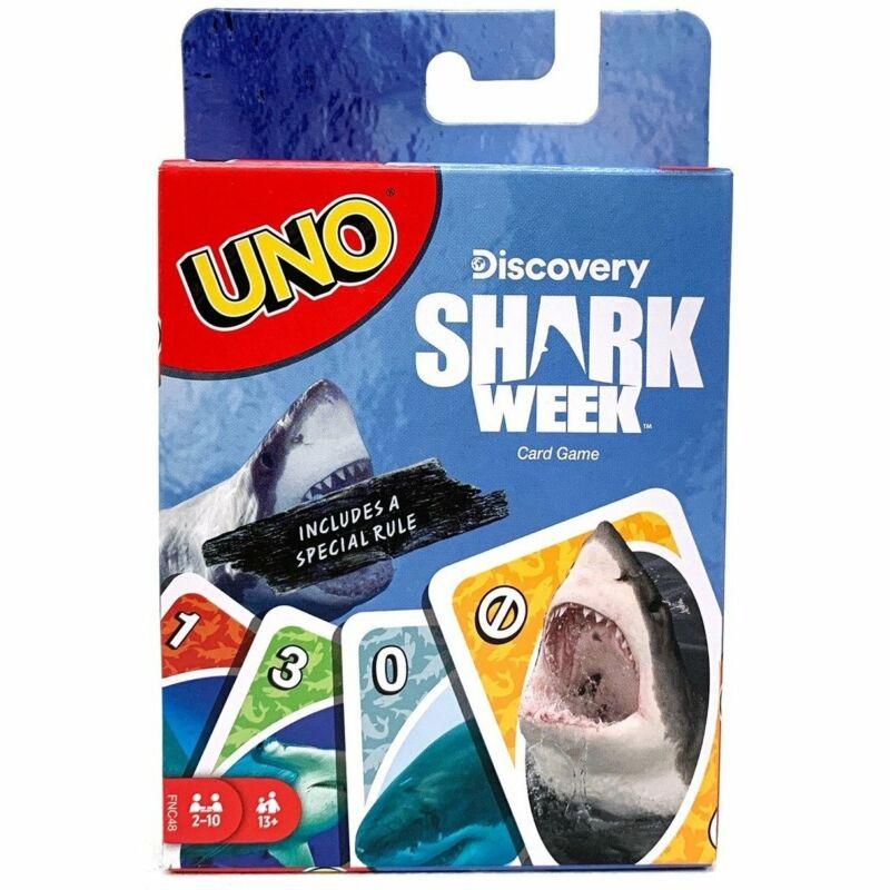 Uno Shark Week Card Game Fnc48  Multi