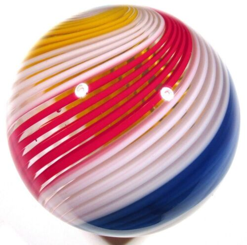 """Hot House Glass banded Turbo marble 1.73"""" 44mm #516"""