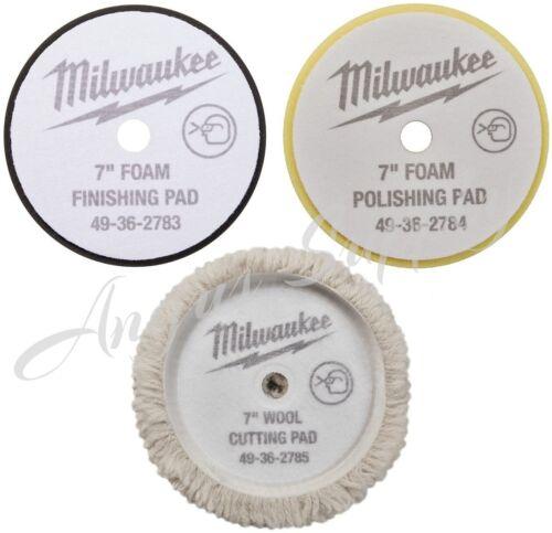 """Milwaukee 49-36-2783 49-36-2784 49-36-2785 7"""" Polisher Pad kit for 2738-20"""