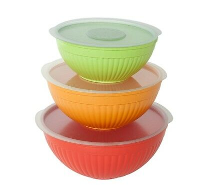 Nordic Ware Prep & Serve Covered Bowl 6 Piece Set Microwave Safe 60059