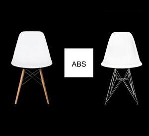 DSW DSR Plastic Retro Loft Chair Designer EIFFEL inspired ABS ! 26 FARBEN !