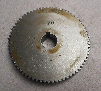 Barber Colman 3 Gear Hobber  Change Gear 70 Teeth