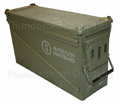 USGI 40mm AMMO CAN PA-120 Steel Large Removable Lid Military Surplus - Surplus Ammo