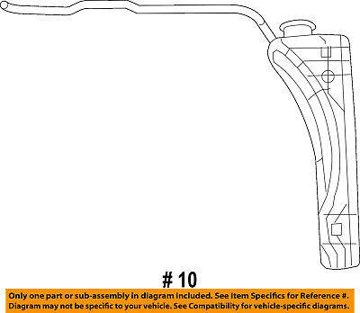Jeep CHRYSLER OEM Radiator Coolant-Recovery Tank Coolant Overflow 68091500AD