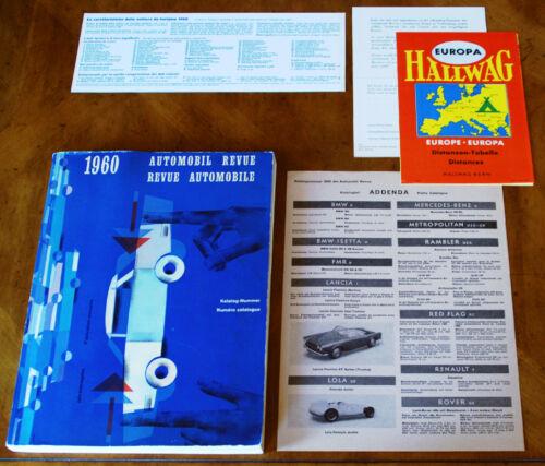 1960 Automobile Revue Catalogue (Hallwag)