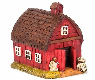 Miniature Red Barn Da 30013849 Farm House Fairy Gnome Garden