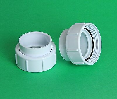 "TWO Hot Tub Spa Pump Union Coupling Fittings 3"" Threads 2"" pvc pipe size PAIR"