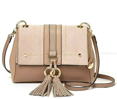 River Island Beige Double Ring Tassel Cross Body Bag Handbag BNWT
