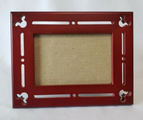 Disney Parks Wood Picture Photo Frame 5x7 Brown Mickey Mouse Ears Icon
