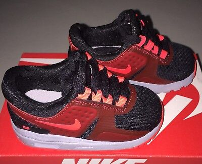 Baby Boys Nike Air Max Essential Shoes Toddler size 4 c Max Red / Black NIB
