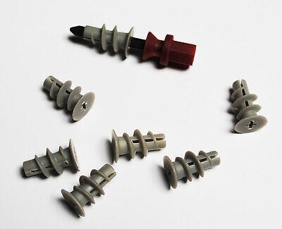 100-tlg Metall Gipskartondübel Rigipsdübel Gipsdübel Hohlwanddübel Dübel 12,5mm
