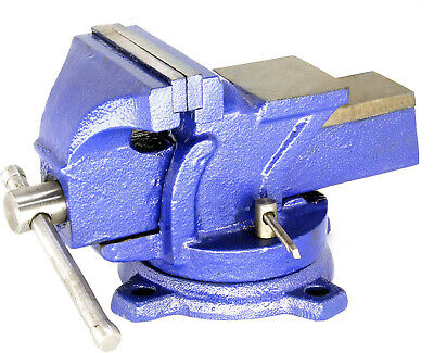 Hfs Heavy Duty Bench Vise - 360 Swivel Base With Lock Big Size Anvil Top...