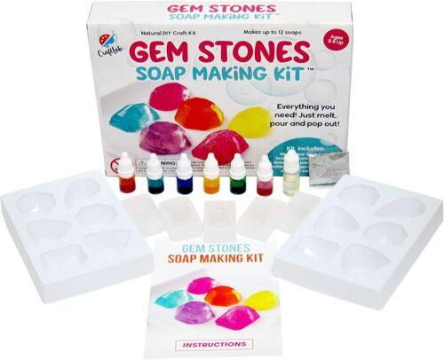Nice Soap Making Kit Colorful Melt & Pour Lavender Scented Gemstone Molds DIY