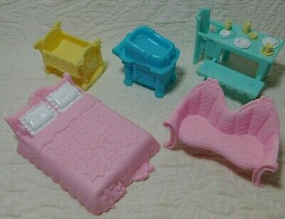 Lot of 5 Fisher Price Sweet Streets VICTORIAN HOUSE Dollhouse ACCESSORIES