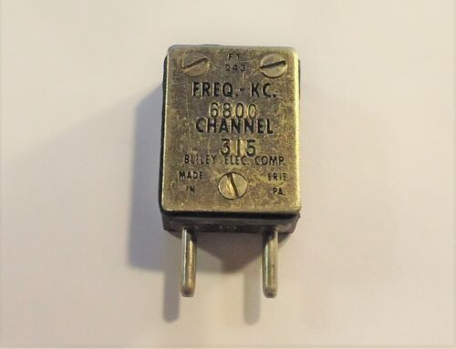FT-243 Radio Crystal - 6800 KC - Bliley - Channel 315 - .093 Pins