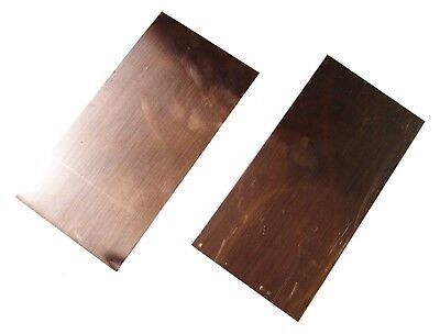 New Copper Sheet - Two 4 X 8 Pieces - Metal Working - 16 Oz 24 Gauge Crafts