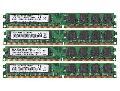 NEW 8GB 4X 2GB DDR2 2RX8 800MHz PC2-6400U 240Pin DIMM For intel Desktop Memory