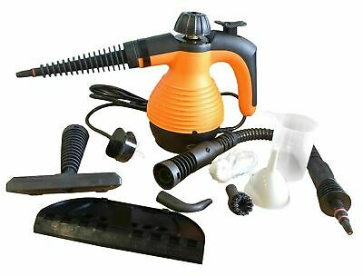 Steam Cleaner Hand Held Steamer Kitchen Bathroom Tiles Universal Cleaning Orange ()