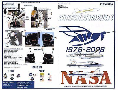Fightertown F/A-18A, C Hornet, NASA Decals 1/48 034, 3 Options, 30th ANN. DO