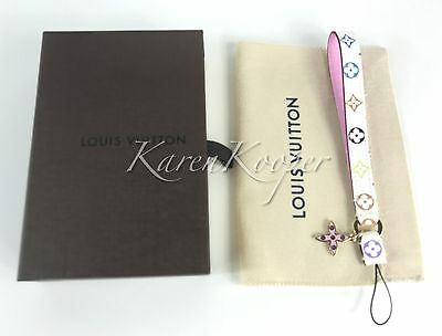 New Louis Vuitton Monogram Multicolore Murakami Phone Strap Key Charm M60079