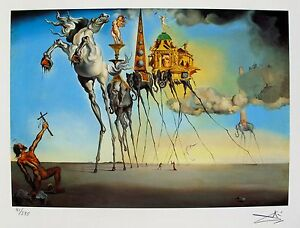 Salvador-Dali-TEMPTATION-OF-ST-ANTHONY-Facsimile-Signed-Numbered-Giclee-Art