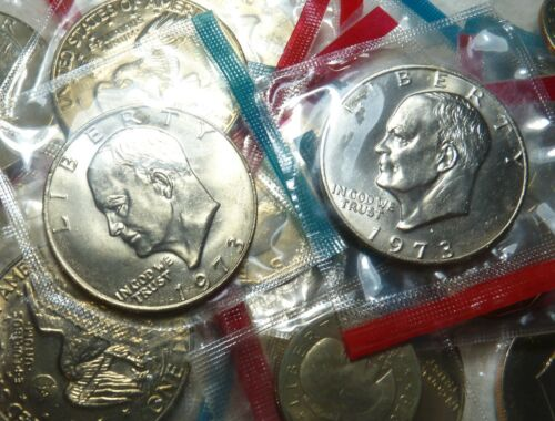 """1973 P Eisenhower """"Ike"""" $1 Dollar BU Uncirculated in OGP mint cello LOW MINTAGE"""
