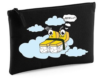 Japan Sushi Tamagoyaki 'Let's Roll it' Stationery Notes Travel Case Grab Pouches - Let It Roll Sushi