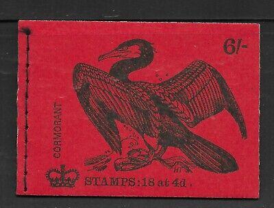 Great Britain Stamp Booklet 6/- November 1969 (Q)