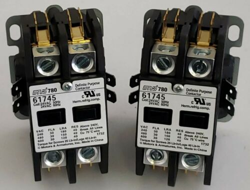 (2 TOTAL) Mars 780 Definite Purpose Contactor 61745 Replaces Furnas 45EG20AJL