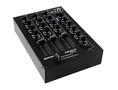 Omnitronic PM-311p DJ-Mixer mit Player 3-Kanal Mischer MP3 Player USB Stereo LED