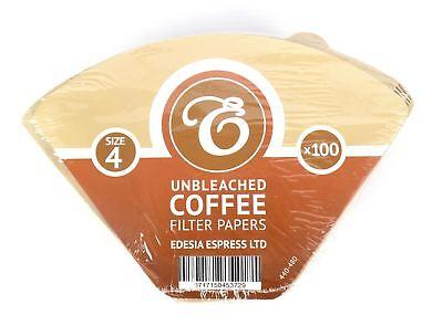 100 Filtri caffè americano in carta non sbiancata - forma a cono - misura 4