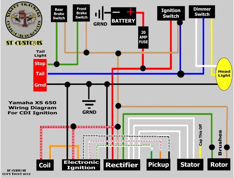 Xs650 Bobber Wiring Diagram   #1 Wiring Diagram Source on