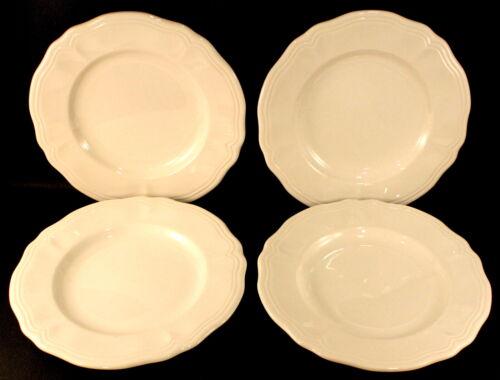 Vintage Federalist Salad Plates Harmony House * Set of 4 * White Ironstone EXC.