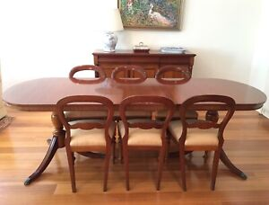 Mahogany Antique Style Dining Table without the Chairs.