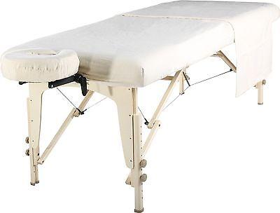 - Master Massage Table Universal Natural Cotton Flannel Sheet set 3pcs PureWhite